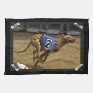 Racing Greyhound Kitchen Towel