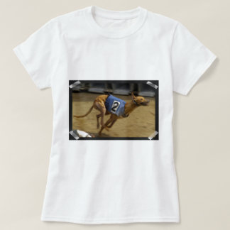 Racing Greyhound Ladies Fitted T-Shirt