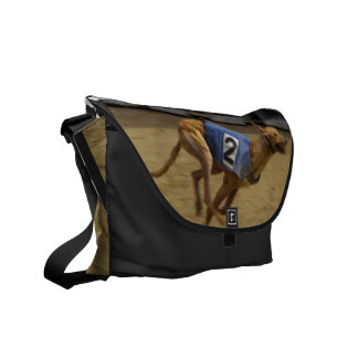 Racing Greyhound Messenger Bag