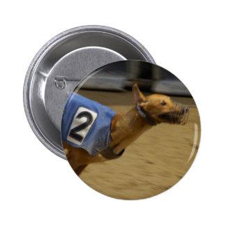 Racing Greyhound Round Button