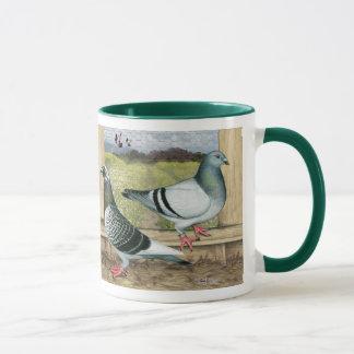 Racing Homers in Loft Mug