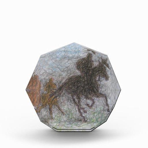 racing horse acrylic award