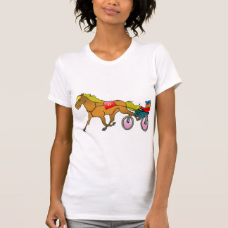 Racing Horse And Buggy Womens T-Shirt