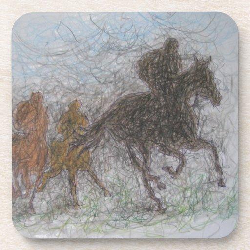racing horse drink coaster