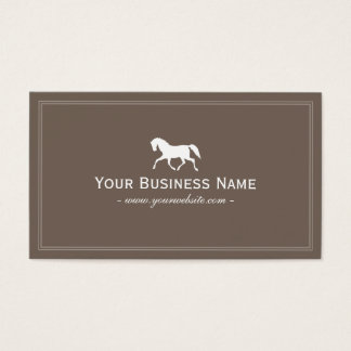 Racing Horse Elegant Plain Brown Business Card