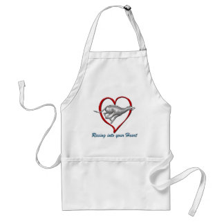 Racing into your Heart Adult Apron