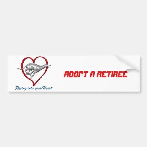 Racing into your Heart Car Bumper Sticker