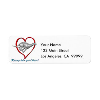 Racing into your Heart Return Address Labels