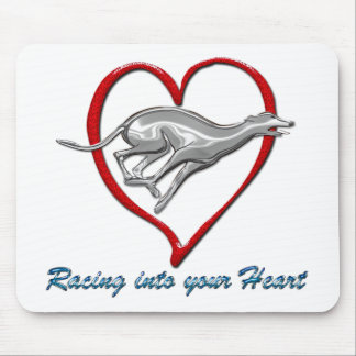 Racing into your Heart Mouse Pad