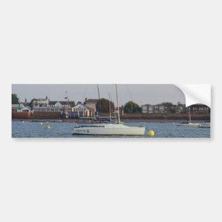 Racing Keelboat Bumper Sticker