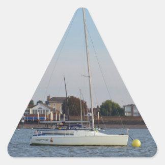 Racing Keelboat Triangle Sticker