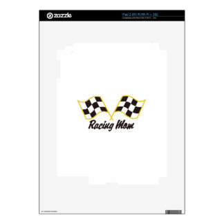 Racing Mom Decals For iPad 2
