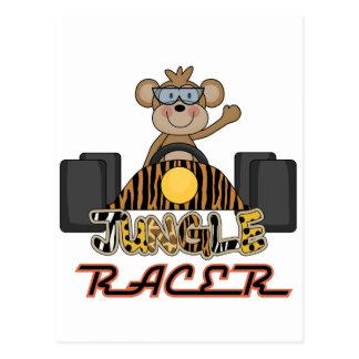 Racing Monkey Tshirts and Gifts Post Card