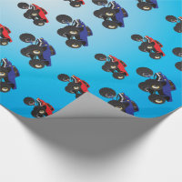 Racing Monster Truck Birthday Wrapping Paper