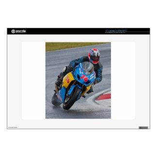 """Racing motorbike 15"""" laptop skin"""