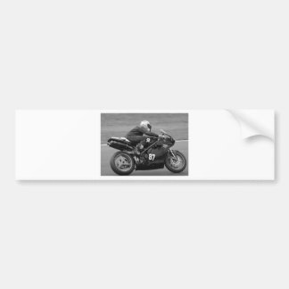 Racing motorcycle car bumper sticker