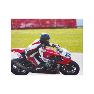 Racing motorcycle canvas prints