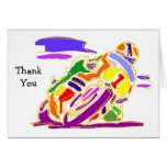 Racing Motorcycle Thank You Cards