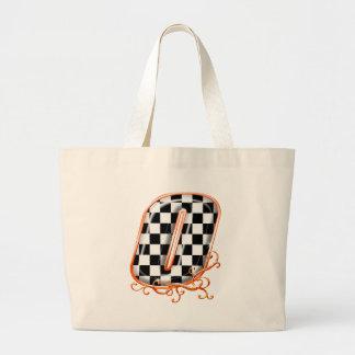 Racing number 0 orange jumbo tote bag