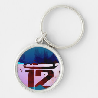 Racing number 12 keychain