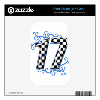racing number 17 decal for iPod touch 4G