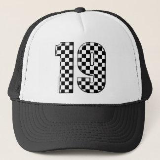 racing number 19 trucker hat