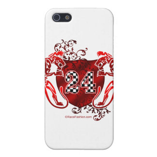 racing number 24 red with panthers/tigers cover for iPhone SE/5/5s