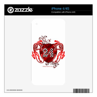 racing number 24 red with panthers/tigers decals for the iPhone 4S