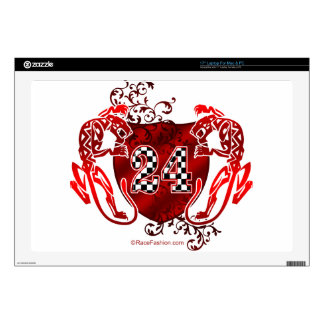 racing number 24 red with panthers/tigers laptop decals
