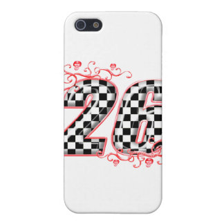 racing number 26 skulls cover for iPhone SE/5/5s