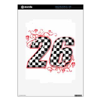 racing number 26 skulls decals for the iPad 2
