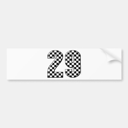 racing number 29 bumper sticker
