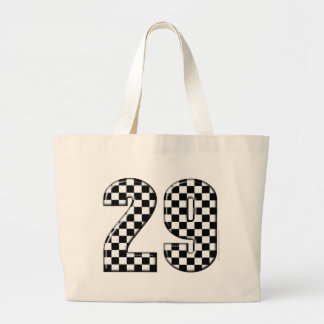 racing number 29 large tote bag