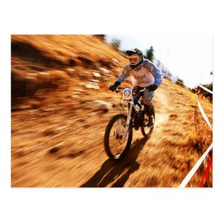 Racing Offroad Dirtbike Postcard