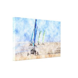 Racing on the Beach Canvas Print