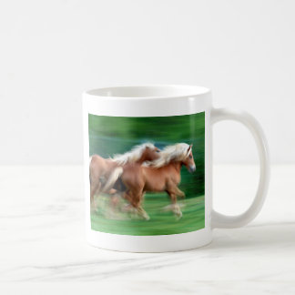 Racing Palomino Horses Ceramic Mug