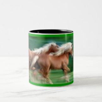 Racing Palomino Horses Coffee Mug