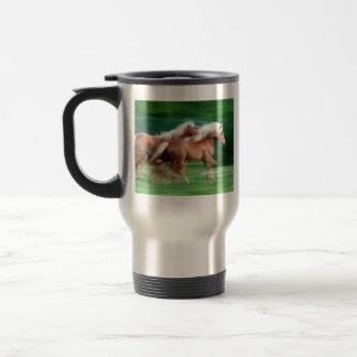 Racing Palomino Horses Coffee Travel Mug