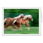 Racing Palomino Horses Greeting Card