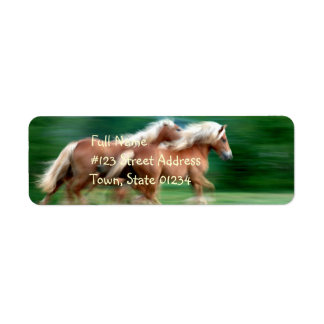 Racing Palomino Return Address Label