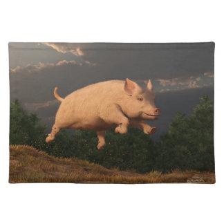 Racing Pig Cloth Placemat