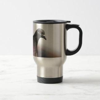 Racing pigeon travel mug