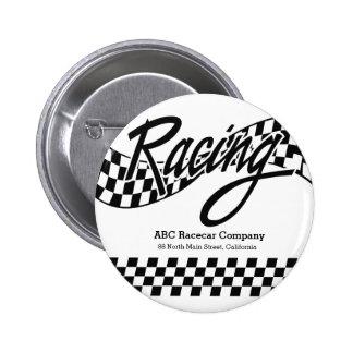 Racing Pinback Button