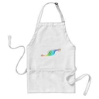 Racing Rainbow Hearts Adult Apron