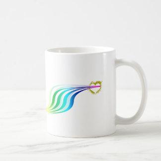 Racing Rainbow Hearts Coffee Mug