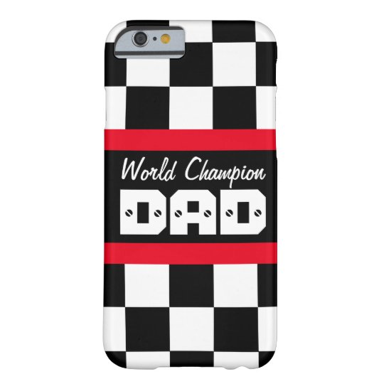 Racing red black world champion dad iphone case