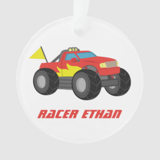 Racing Red Monster Truck, for Boys Room