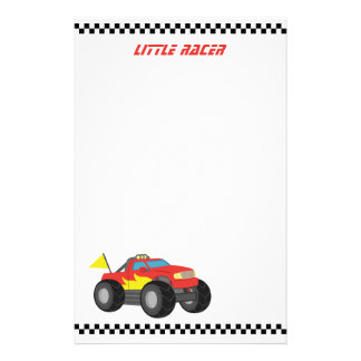 Racing Red Monster Truck, for Racer Boys Stationery