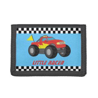 Racing Red Monster Truck Racer Boy Wallet