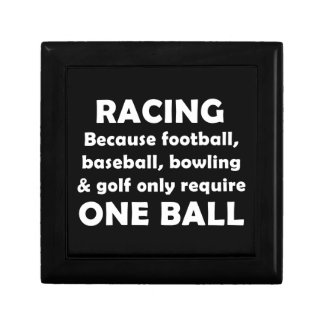 Racing requires balls gift box